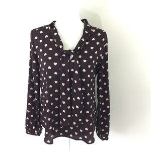Loft Blouse with hearts
